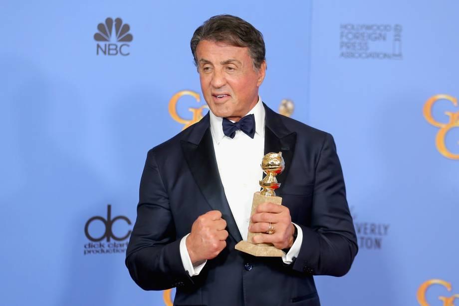Sylvester Stallone ganhou o Globo de Ouro de melhor ator coadjuvante
