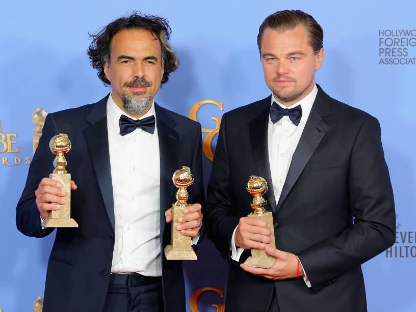 Alejandro González Iñárritu e Leonardo DiCaprio vencedores por O Regresso