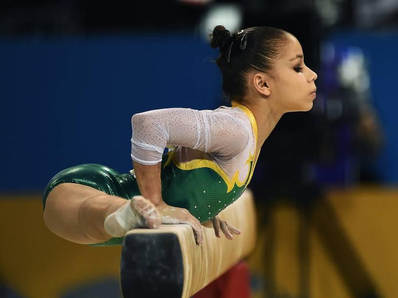 Flávia Saraiva conquistou o bronze na disputa individual geral da ginástica artística nos Jogos Pan-Americanos de Toronto, no Canadá