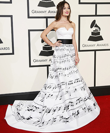 Diana Gloster durante a 58ª edição do Grammy, premiação que elege os melhores da música internacional, que acontece nesta segunda-feira (15)