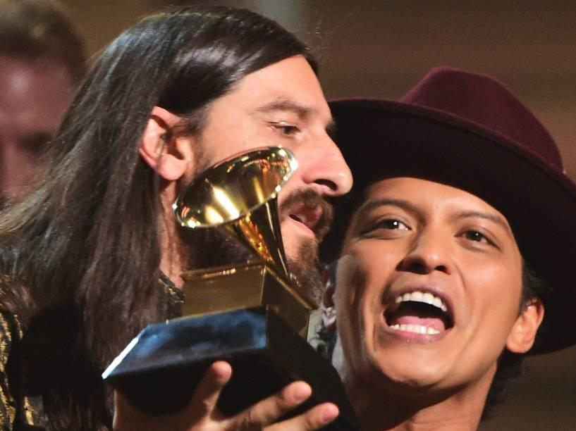 <br><br>Uptown Funk bruno mars durante a 58ª edição do Grammy, premiação que elege os melhores da música internacional, que acontece nesta segunda-feira (15)