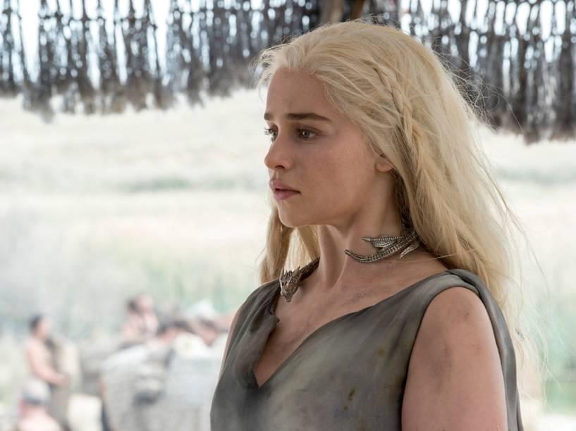 Emilia Clarke (Daenerys Targaryen), em cena da série Game of Thrones