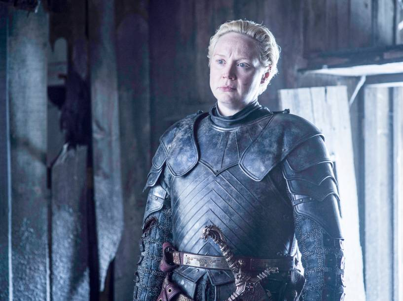 Gwendoline Christie (Brienne de Tarth), em cena da sexta temporada da série Game of Thrones