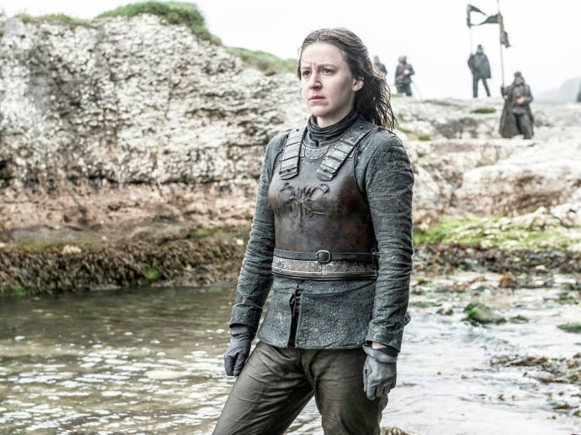 Gemma Whelan (Yara Greyjoy), em cena da sexta temporada da série Game of Thrones