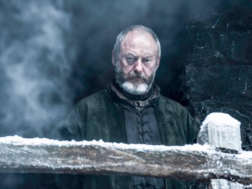 Liam Cunningham (Davos Seaworth), em cena da sexta temporada da série Game of Thrones