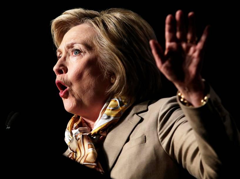 Hilary Clinton e Donald Trump disputam as primárias no Estado de Nova York - 19/04/2016