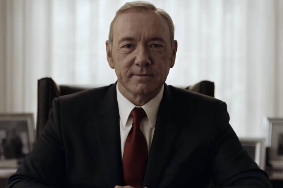 Frank Underwood (Kevin Spacey), protagonista da série House of Cards