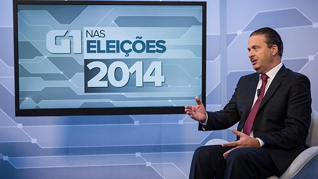 Eduardo Campos na sabatina do G1