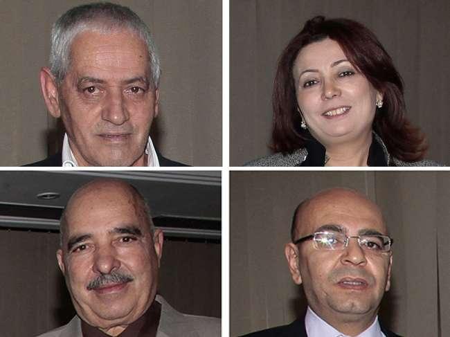 O secretário-geral da União Geral Tunisiana do Trabalho (UGTT), Houcine Abbassi, a presidente da União Tunisiana da Indústria, do Comércio e do Artesanato (Utica), Wided Bouchamaoui, o presidente da Liga Tunisiana dos Direitos Humanos (LTDH), Abdessattar ben Moussa e o advogado tunisiano Fadhel Mahfoudh, da Ordem Nacional dos Advogados da Tunísia (Onat). O conjunto de quatro organizações, chamado de Quarteto de Diálogo Nacional, ganhou o prêmio Nobel da Paz por sua contribuição para a construção de uma democracia plural na Tunísia após a revolução de 2011