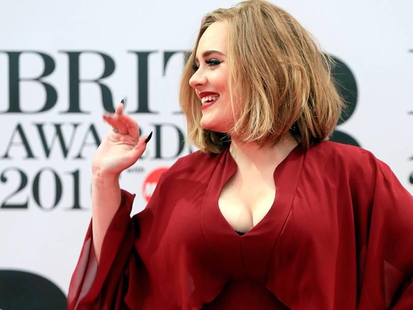 Adele no Brit Awards, em Londres