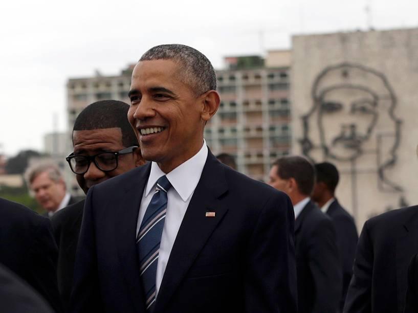 Obama durante cerimônia em Cuba, em 21/03/2016