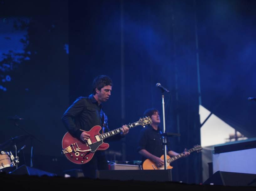 Noel Gallaghers High Flying Birds, banda do ex-integrante da banda Oasis, se apresenta no segundo dia do Festival Lollapalooza 2016