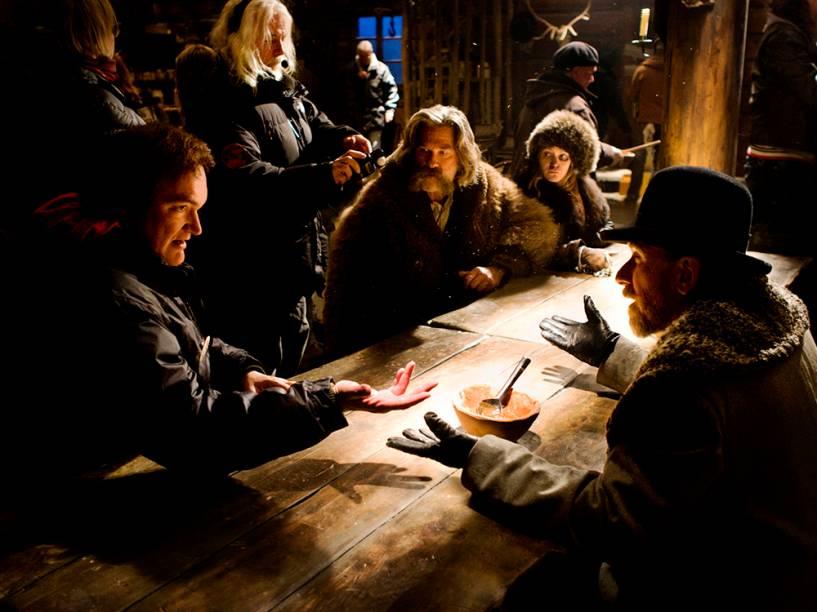 Tarantino nas gravações de Os Oito Odiados