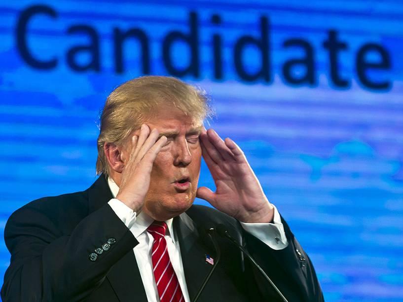 O candidato americano Donald Trump