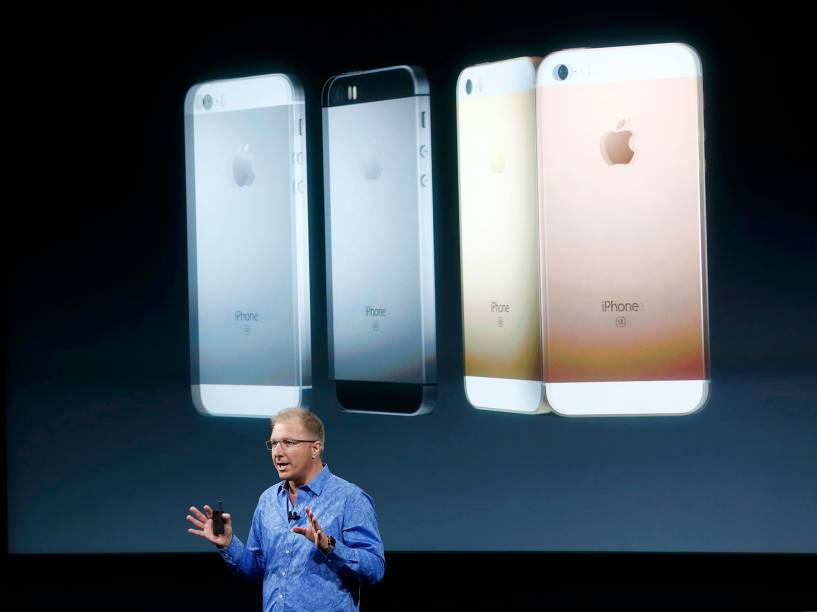 O iPhone SE terá quatro cores disponíveis: prata, preto, dourado e rosa.