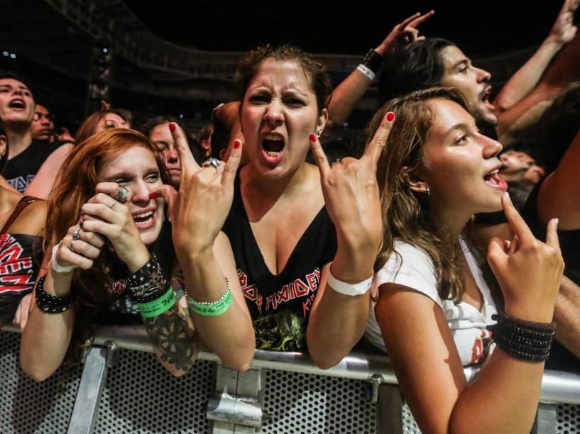A banda britânica Iron Maiden encerra turnê latino-americana com show para mais de 40 mil pessoas no Allianz Parque, em São Paulo