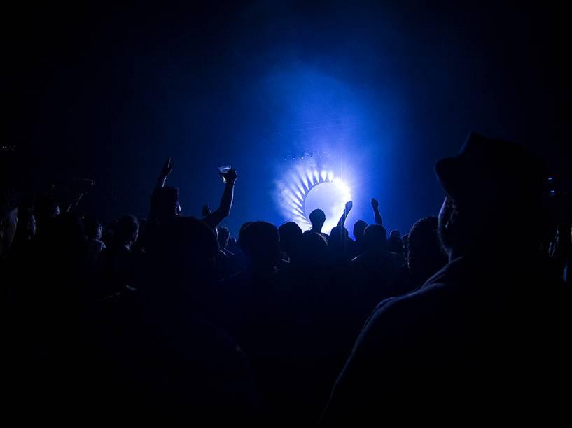 David Gilmour na turnê de lançamento de seu mais recente álbum Rattle That Lock no Allianz Parque em São Paulo