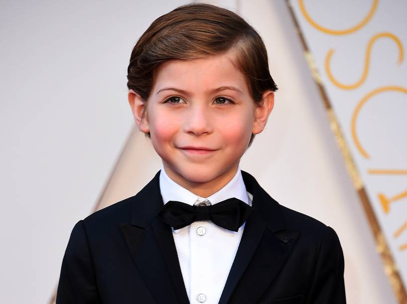 Jacob Tremblay antes do início do Oscar 2016 no Teatro Dolby, em Los Angeles