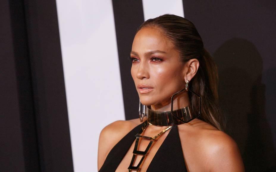 A atriz e cantora Jennifer Lopez assiste ao Fashion Rocks edição 2014, no  bairro do Brooklyn, em Nova York