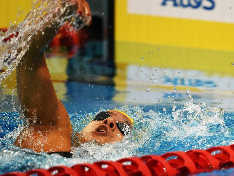 A brasileira Joanna Maranhão conquistou medalha de bronze na prova de 400m medley nos Jogos Pan-Americanos de Toronto
