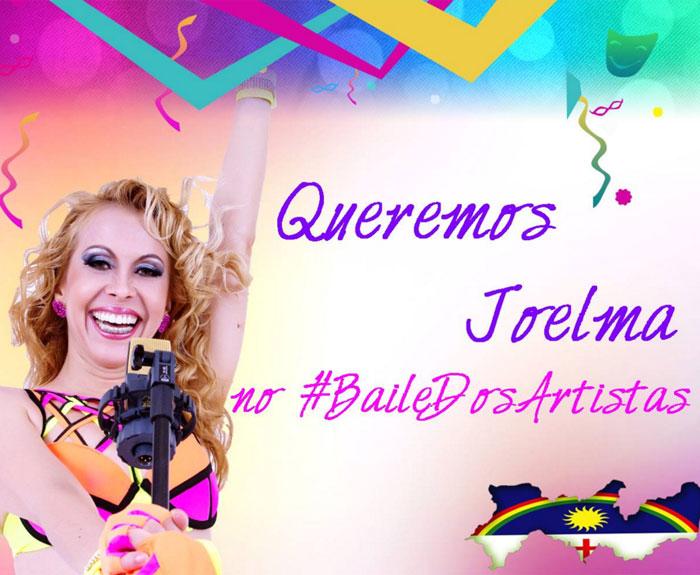 Imagem da campanha que pede recondução de Joelma ao Baile dos Artistas
