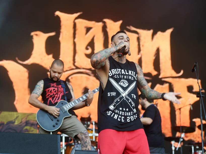 Apresentação da banda John Wayne com influencias hardcore e death no quarto dia do Rock in Rio 2015
