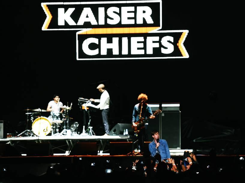 Show da banda britânica Kaiser Chiefs abre a turnê do álbum Sonic Highways do Foo Fighters, em São Paulo
