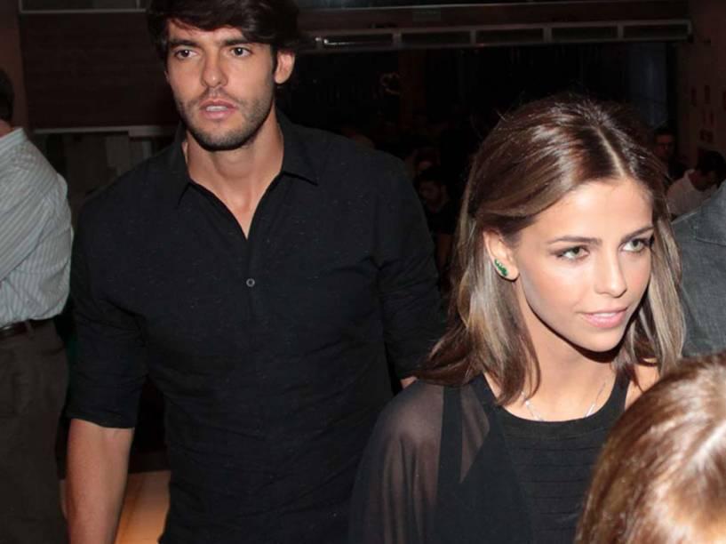 Kaká vai a evento com a suposta nova namorada, Vanessa Ribeiro