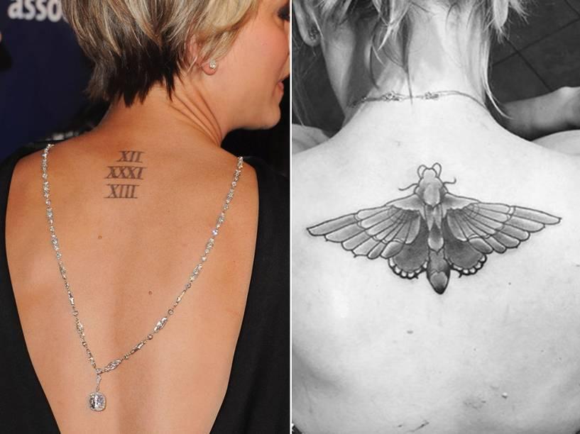 Modificação na tatuagem da atriz Kaley Cuoco