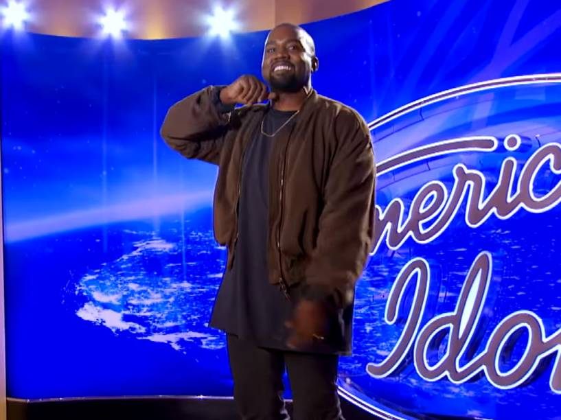 Kanye West em vídeo promocional do programa American Idol