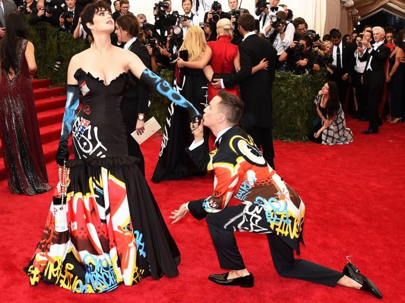O vestido usado por Katy Perry para o Met Ball de 2015