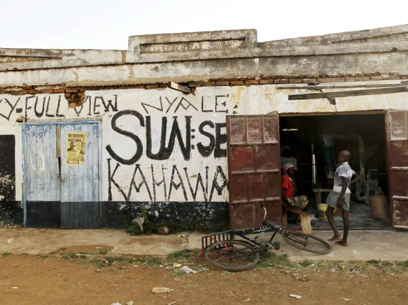 Um estabelecimento comercial em Kogelo, no Quênia