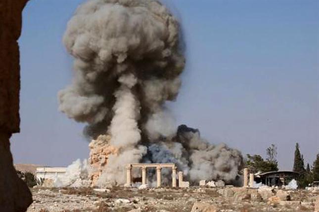 Explosão do Templo de Baal, em Palmira, na Síria