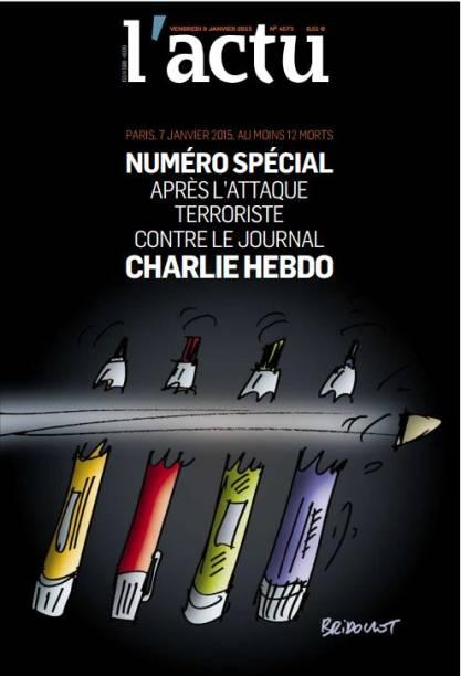 Latu, jornal da França, publicou um número especial nesta quitna-feira sobre o atentado à revista