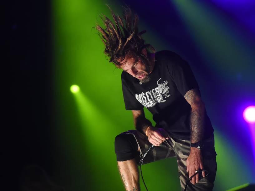 Apresentação da banda Lamb Of God no quarto dia do Rock in Rio 2015