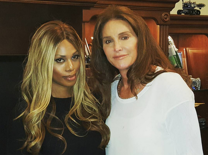 Atriz Laverne Cox, de Orange Is the New Black, conhece Caitlyn Jenner