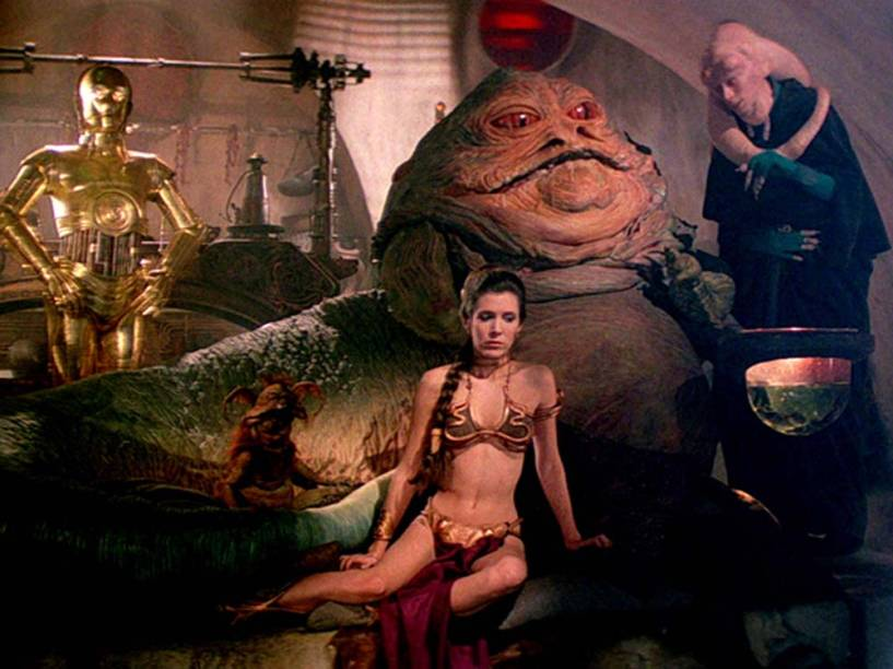 Princesa Leia e Jabba The Hutt