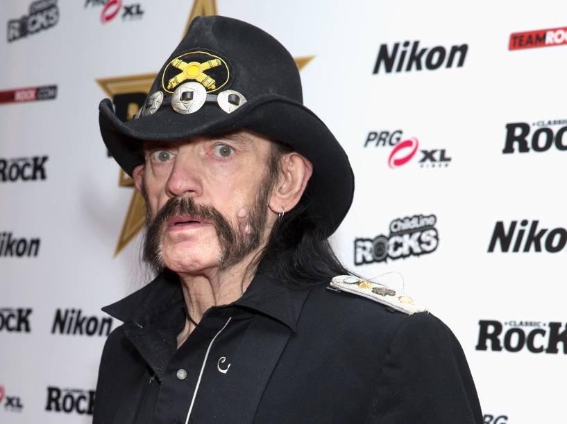 <p>Lemmy Kilmister, cantor e baixista da banda Motörhead</p>