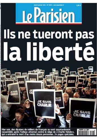 """""""Eles não vão matar a liberdade"""", diz manchete do jornal francês Le Parisien"""