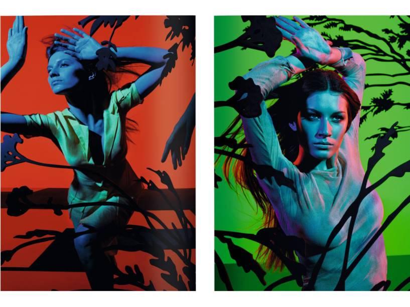 Gisele em campanha da Versace por Steven Meisel (1999)