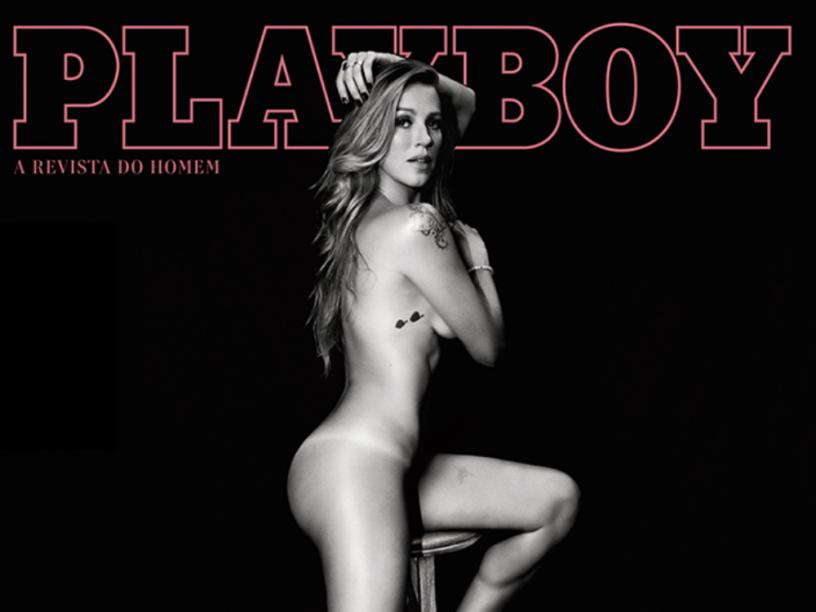 Luana Piovani na capa da nova Playboy