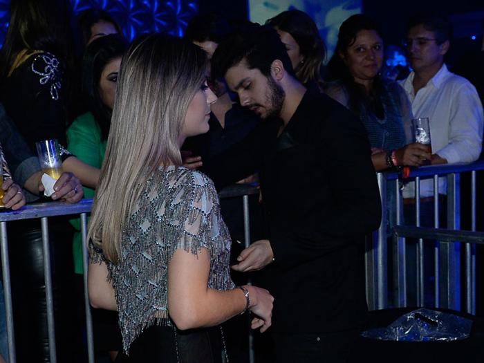 Luan Santana e a ex, Jade Magalhães, em gravação de DVD da dupla Jorge & Mateus, em SP