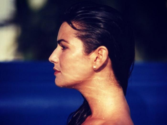 A ex-modelo Luiza Brunet, em foto antiga publicada por ela no Instagram