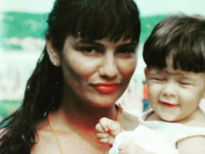 Luiza Brunet e a filha, Yasmin, em foto antiga postada por ela no Instagram