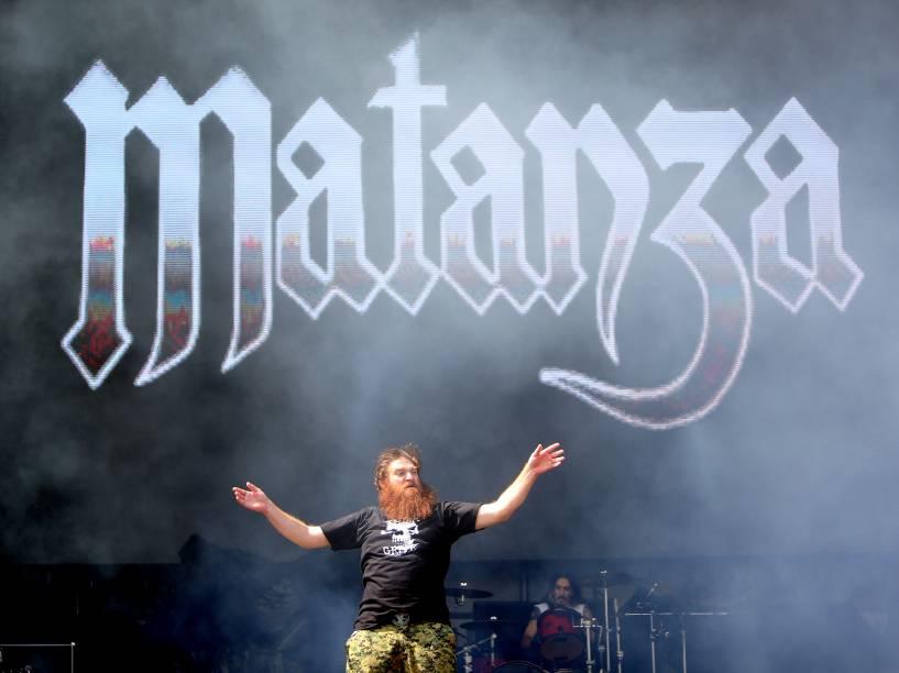 A banda Matanza no primeiro dia do Festival Lollapalooza 2016 que ocorre em São Paulo-SP neste sábado (12) no Autódromo de Interlagos Zona Sul da Capital