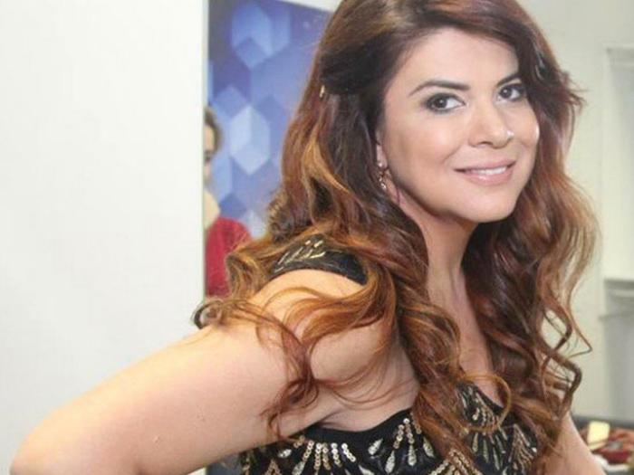 A ex-apresentadora infantil Mara Maravilha, participante da edição 2015 do reality show A Fazenda, da Record