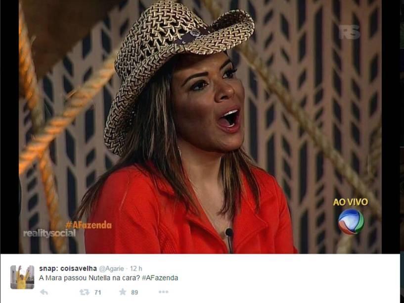 Mara Maravilha errou na maquiagem em A Fazenda