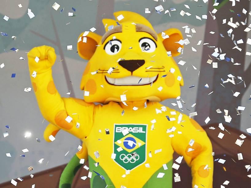 A onça-pintada Ginga, mascote do Time Brasil
