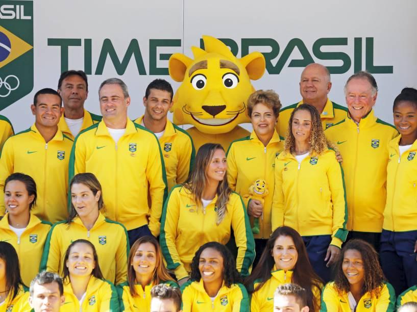 A presidente Dilma Rousseff na apresentação da mascote do Time Brasil