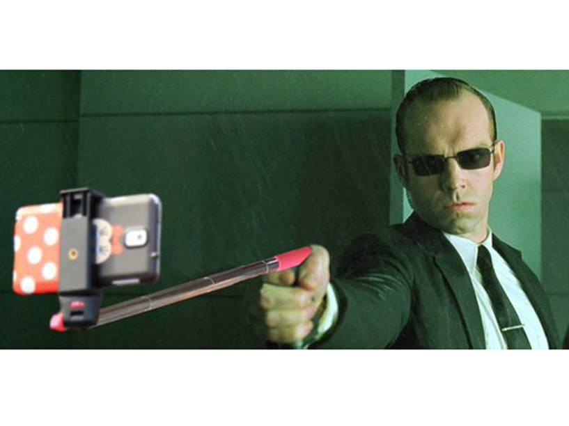 Tem pau de selfie na Matrix?